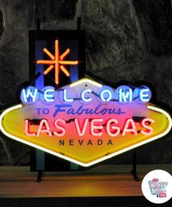 Neon Benvenuto a Las Vegas Sign Medium