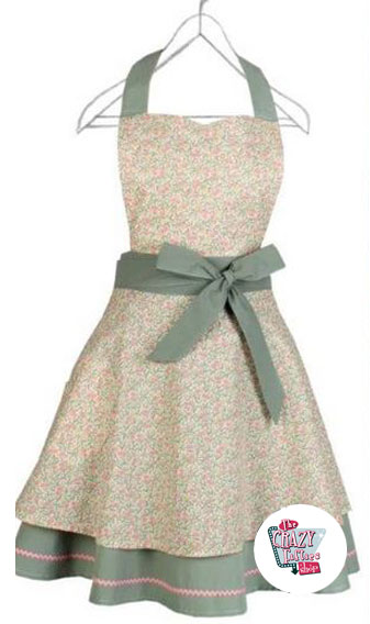 Vintage Flowers Brigitte-1 forklæde