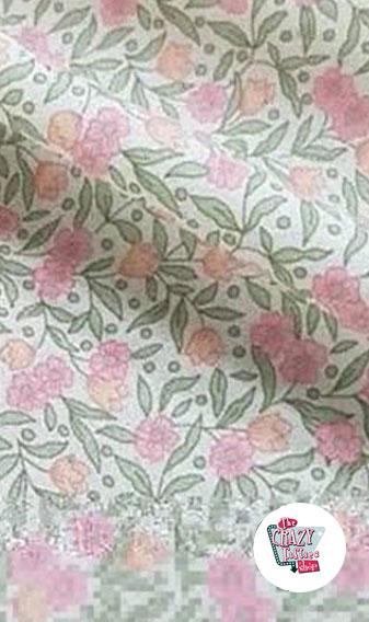 Brigitte forklæde blomster detalje