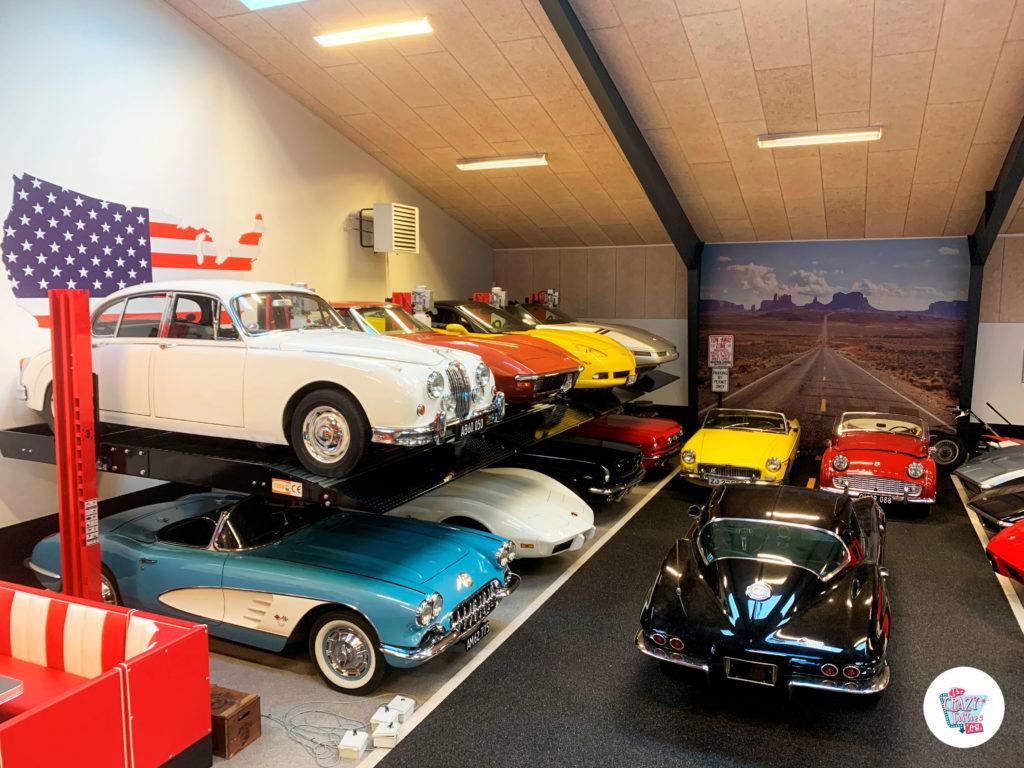 Garage de coches clásicos desde Dinamarca corvette
