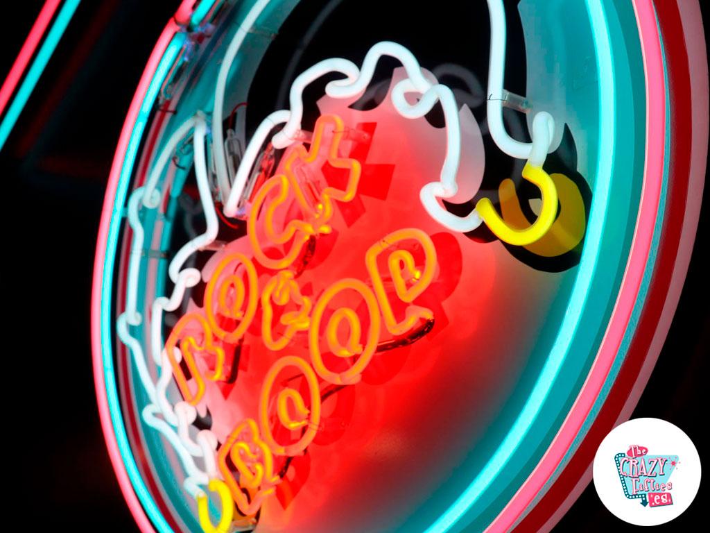 American Diner en Barcelona neon