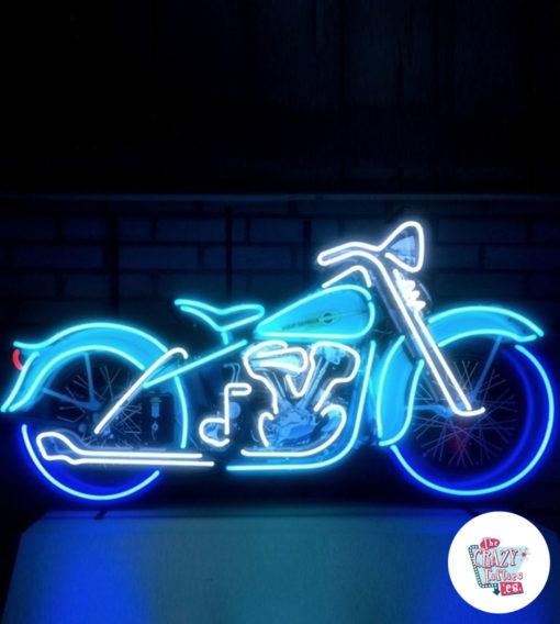Neon Motorsykkelplakat Harley Davidson på