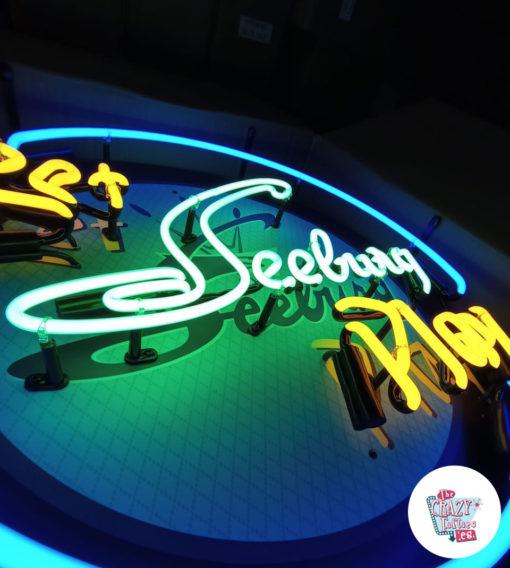 Cartel Neon Let Seeburg play Jukebox on
