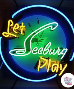 Neon Let Seeburg spiller Jukebox-plakat