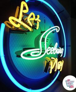 Neon Sign La Seeburg spille Jukebox-lys på