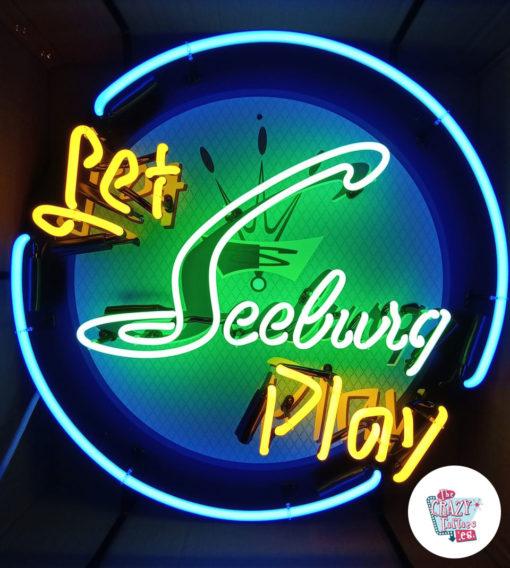 Cartel Neon Let Seeburg play Jukebox