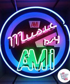 Neon Music av AMI Jukebox Poster