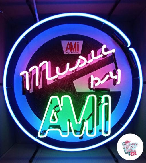 Cartel Neon Music by AMI Jukebox
