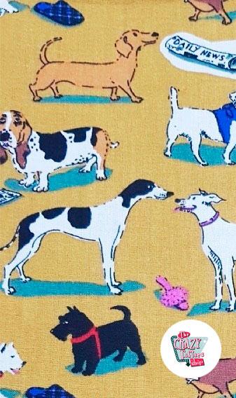 Estampado Delantal-Vintage-Puppy-Margery-1