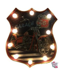 Cartel Luminoso Vintage Route 66 Harley
