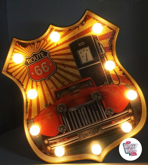 Bright vintage affisch Route 66 bil
