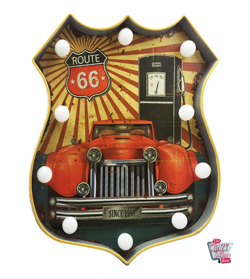 Helle Vintage Poster Strecke 66 Auto