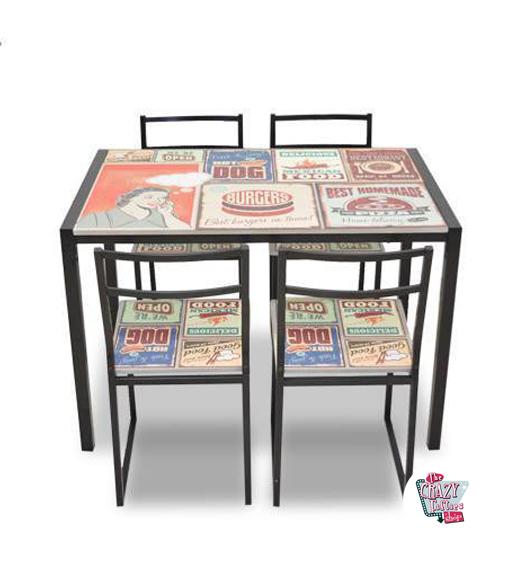 retro bord Retro bord sæt med retro 4 399 Stole af €   .thecrazyfifties.es retro bord