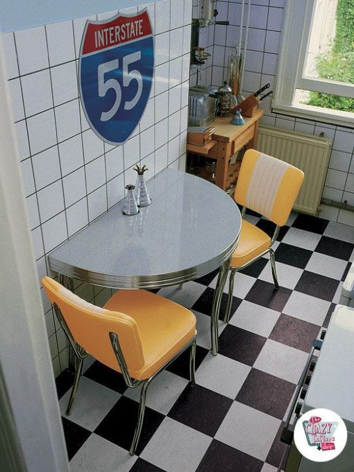 Diner ретро кухонный гарнитур C1224
