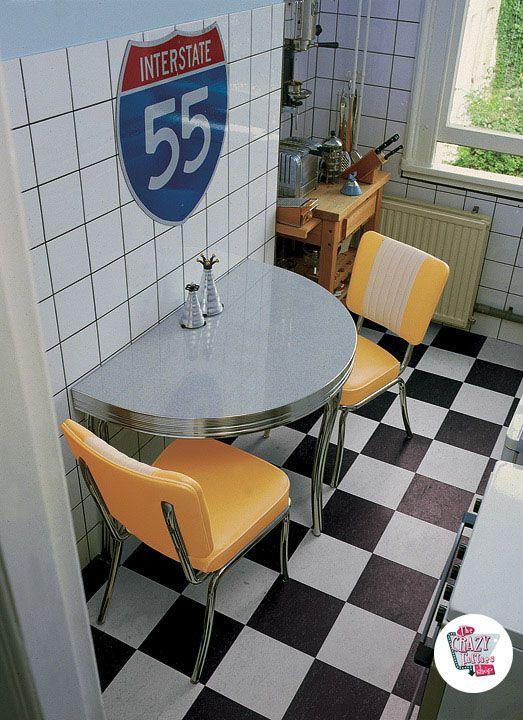 Diner Retro Küche gesetzt C1224