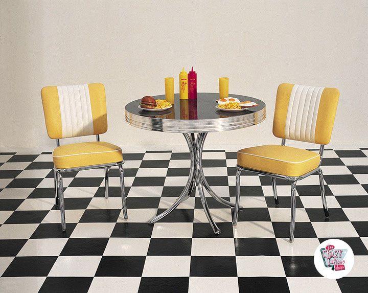 Silla Retro Diner Americano CO24