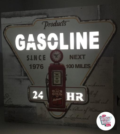 Cuadro Retro Gasolinera 24h