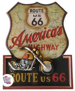 Cuadro Retro Route 66 Harley Davidson