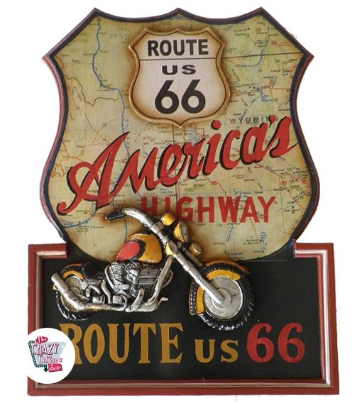 Tabela Retro Harley Davidson Route 66