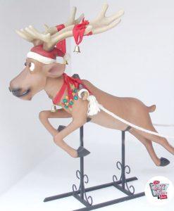 Figura Decoración Navidad Papa Noel en Trineo