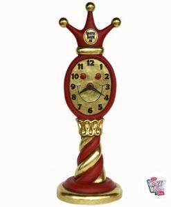 Figura Decoración Navidad Reloj Papa Noel