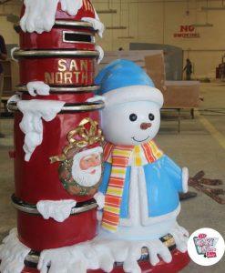 Decoracion Tematica Navidad Santa Claus Mailbox & Snowman