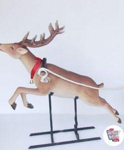 Figura Decorazione Natale Sleigh di Babbo Natale