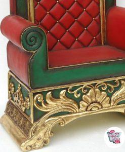 Figura Decoración Navidad Trono Papa Noel