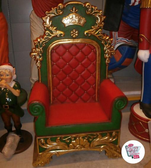Figura Decorazione Natale Trono Babbo Natale