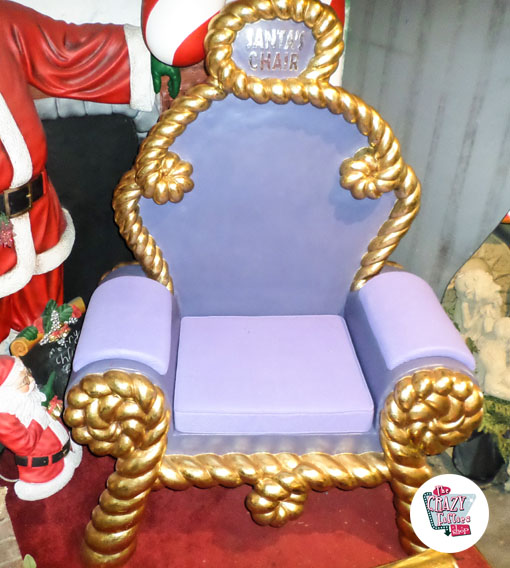 Figura Decorazione Natale trono Babbo Natale viola