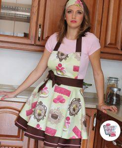 Delantal Vintage Macarons Brigitte