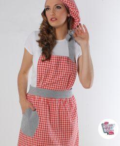 Tappning Förkläde Vichy Gina