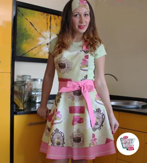 Vintage Forklæde Macarons Ivonne
