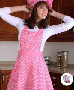 Tappning Förkläde Polka Dots Nicole