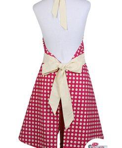 Delantal Vintage Polka Dots Norma Frambuesa