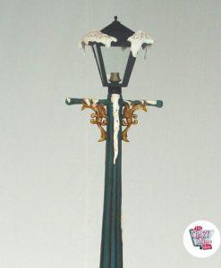 Decorazione della lampada di strada Natale con la luce