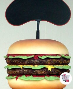 Figure alimentaire Burger avec ardoise