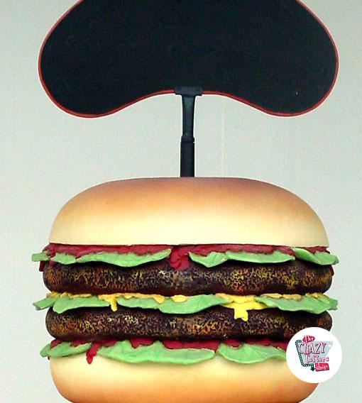 Figura Comida Burger con Pizarra