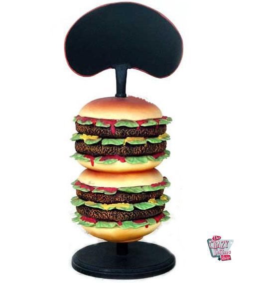 Figur Mat Burger med Slate