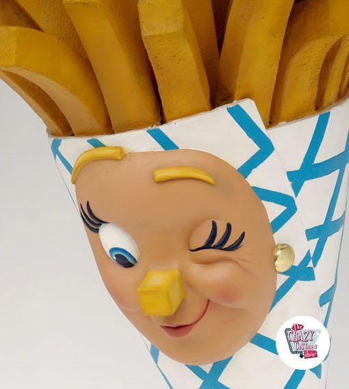 Figura Comida Patatas Fritas de Pared