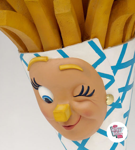Figur Mat French Fries Vegg