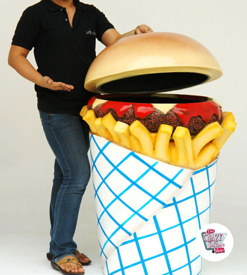 Figur Mat Bin Burger og Fries