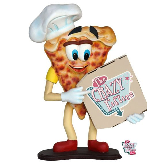 Figura Comida Porción Pizza con Caja