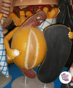 Figur Mad bratwurst med Slate