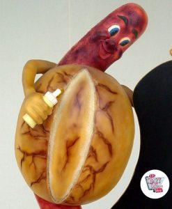 Figure bratwurst alimentaire avec ardoise
