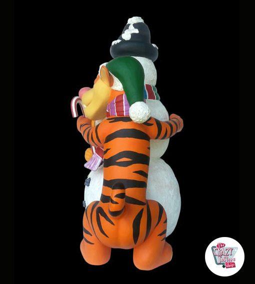 Figur Dekoration Weihnachten Schneemann, Tiger und Puuh