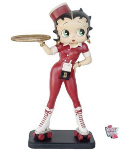 Figure Decoration Betty Boop Waitress Skates