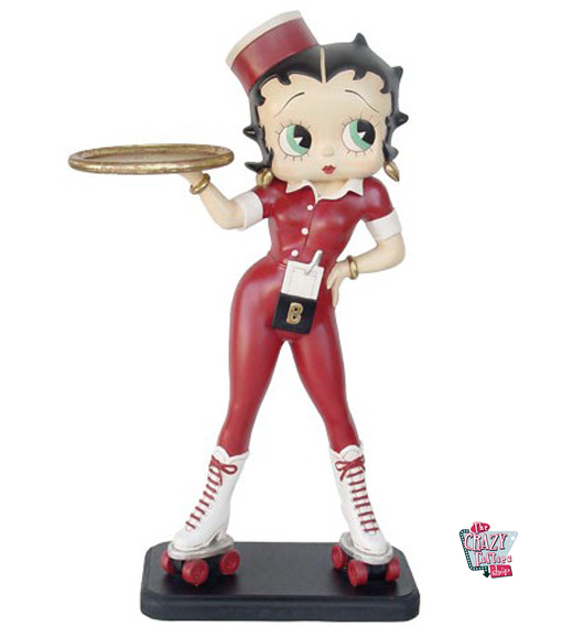 Figura Decoración Betty Boop Camarera Patines