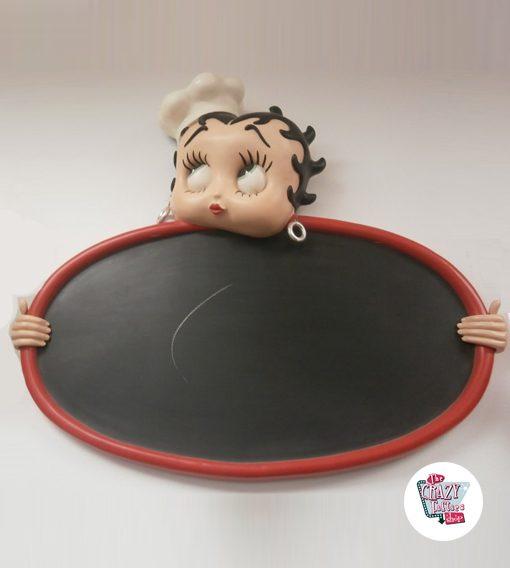 Figura Decoración Betty Boop Pizarra
