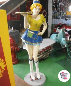 Figure Decoration Tray Sexy Waitress